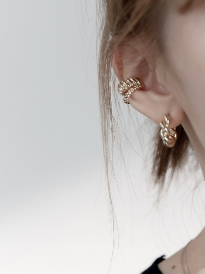 【RE ARRIVAL】double line ear cuff