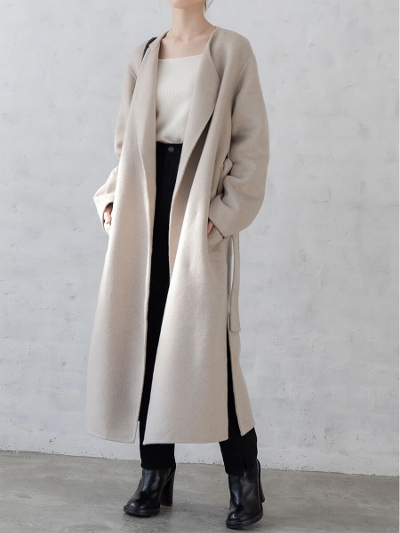 【NEW】amel original <br>2way long coat / oatmeal