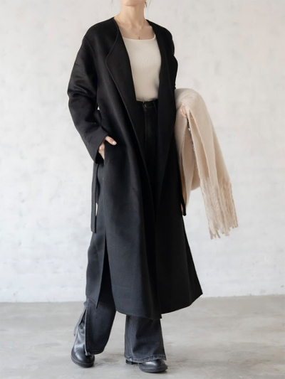 【NEW】amel original <br>2way long coat / black