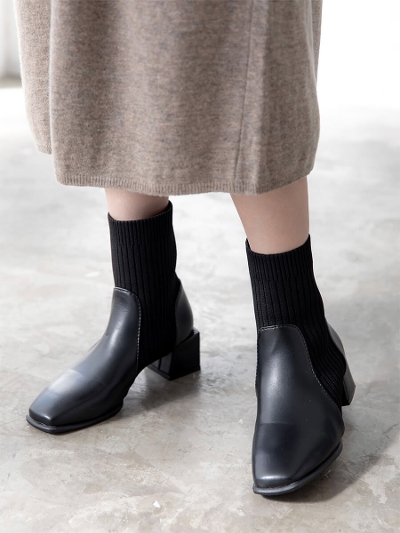 【RE ARRIVAL】side gore socks boots