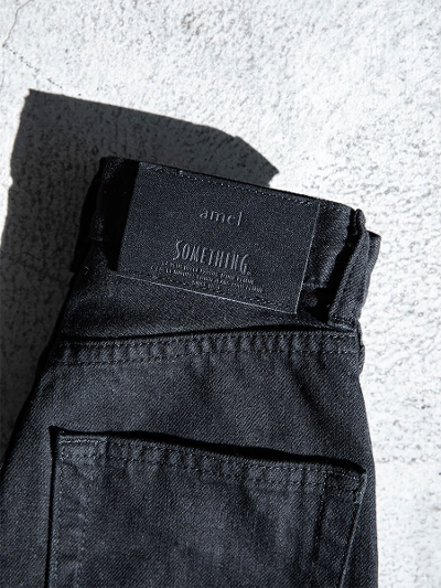 【NEW】amel × SOMETHING<br /> smaller size<br /> SLIM STRAIGHT DENIM / black