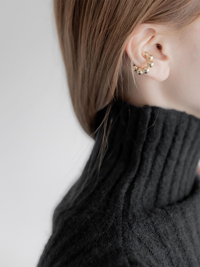 【NEW】ball ring ear cuff