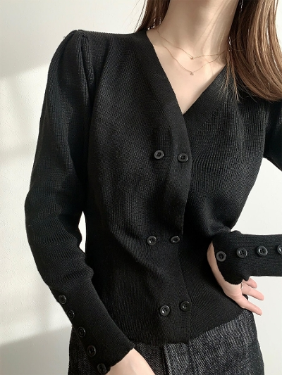 【予約販売】button design cardigan