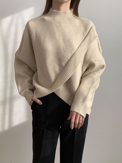 【予約販売】cape design knit / beige